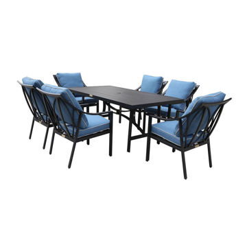 Geneva Outdoor 7-Piece Dining Set With Six Arm Chairs