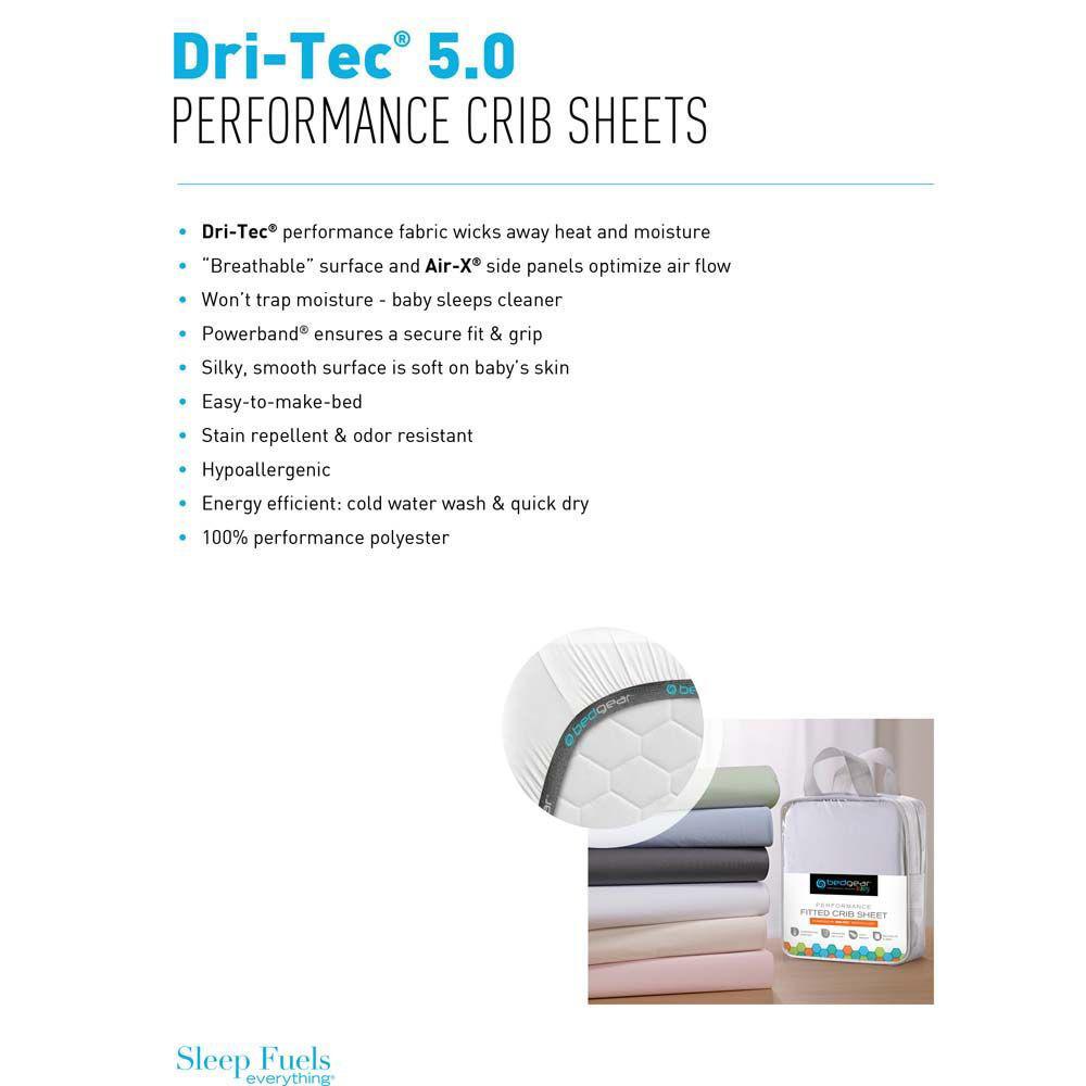 Dri Tec Crib Sheet - Sage - Info