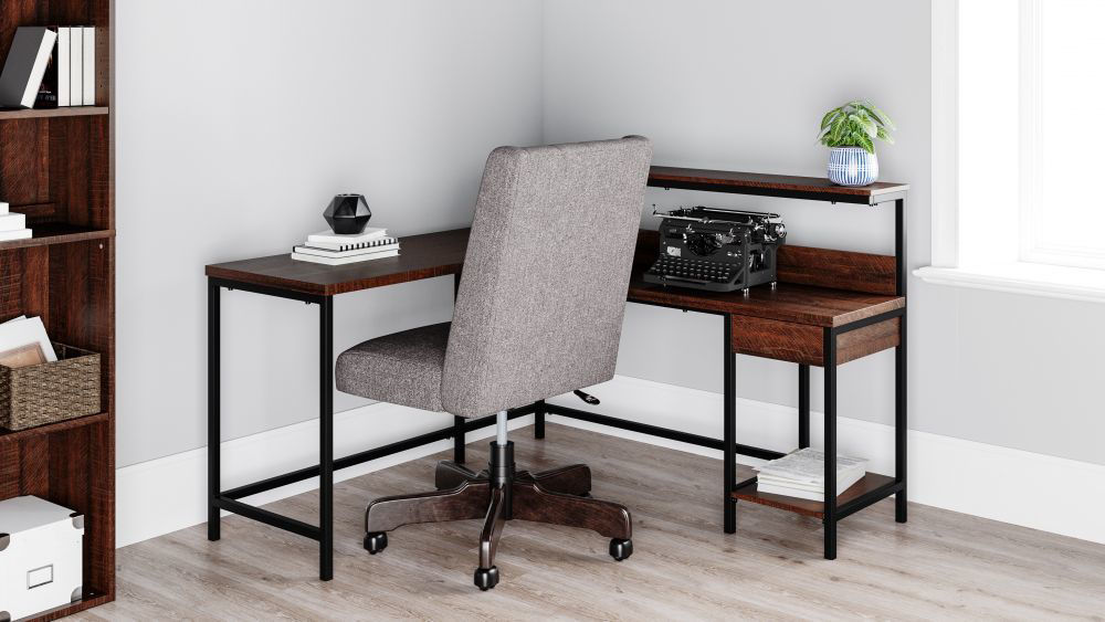 Riley L-Shaped Desk - Lifestyle
