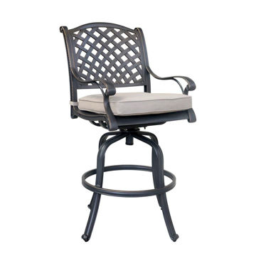 Silver Outdoor Bar Stool