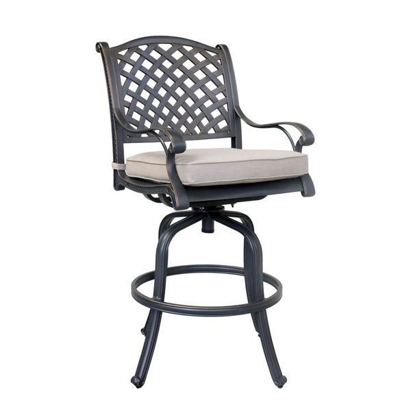 Picture of Silver Outdoor Bar Stool