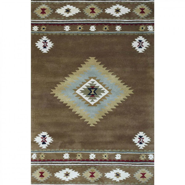 Picture of Charcoal and Stone Hand-Tufted Contemporary Wool and Viscose Rug