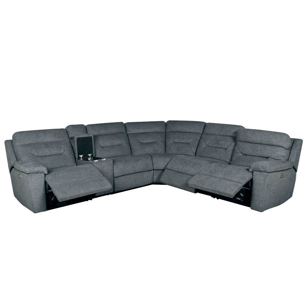 Jax 6-Piece Sectional - Gray - Open