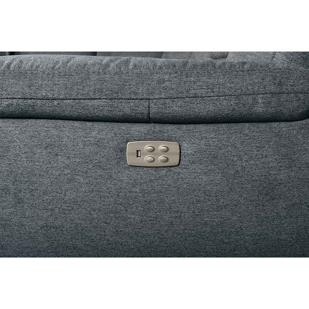 Jax 6-Piece Sectional - Gray - Button