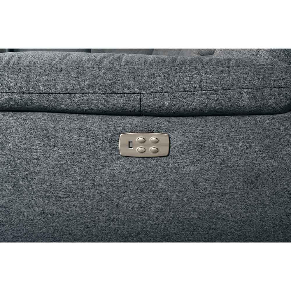 Jax 6-Piece Sectional - Gray - Button