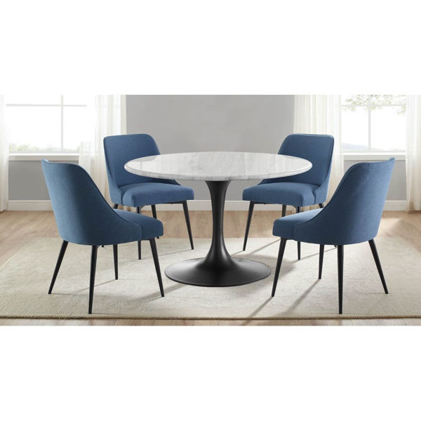 Picture of Colfax 5-Piece Dining Set - Blue