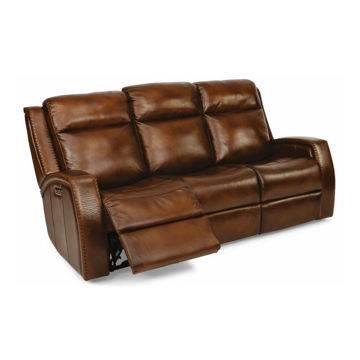 Santa Fe Reclining Sofa with Power Headrest by Flexsteel