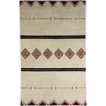 ivory-and-beige-hand-tufted-southwest-wool-rug