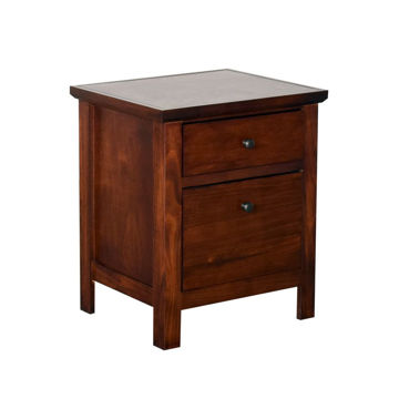 Cherry 2 Drawer File Cabinet
