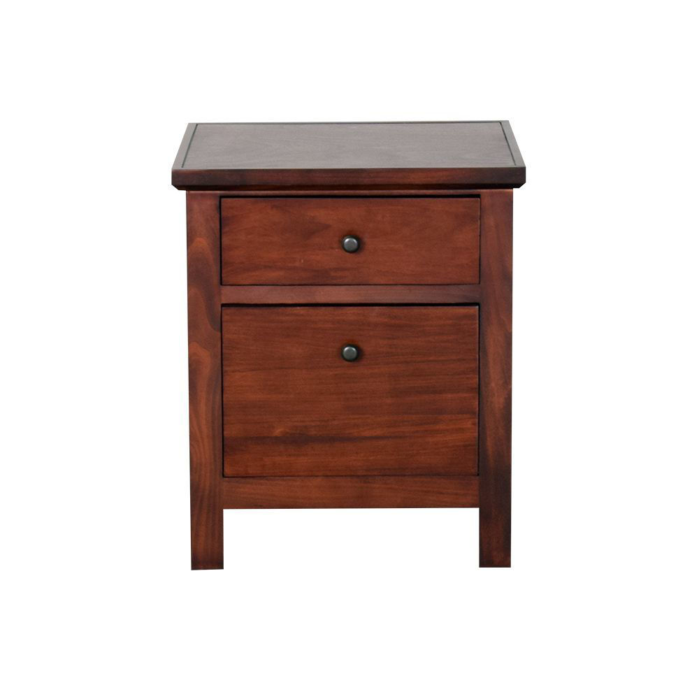 Cherry 2 Drawer File Cabinet - Front