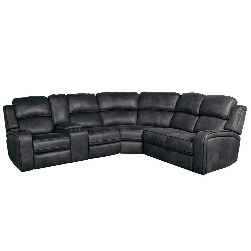 Drift 3-Piece Power Reclining Sectional - Closed Light On