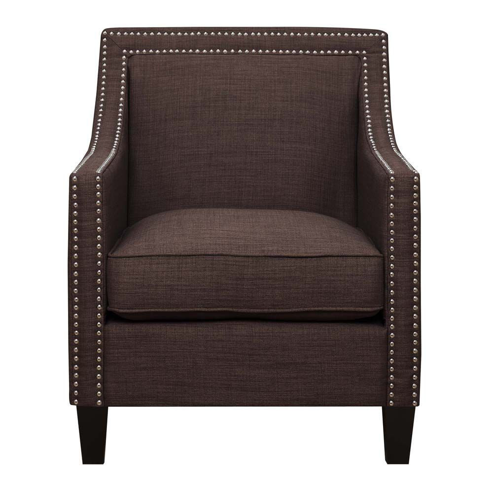 Erica Accent Chair - Chocolate - Front