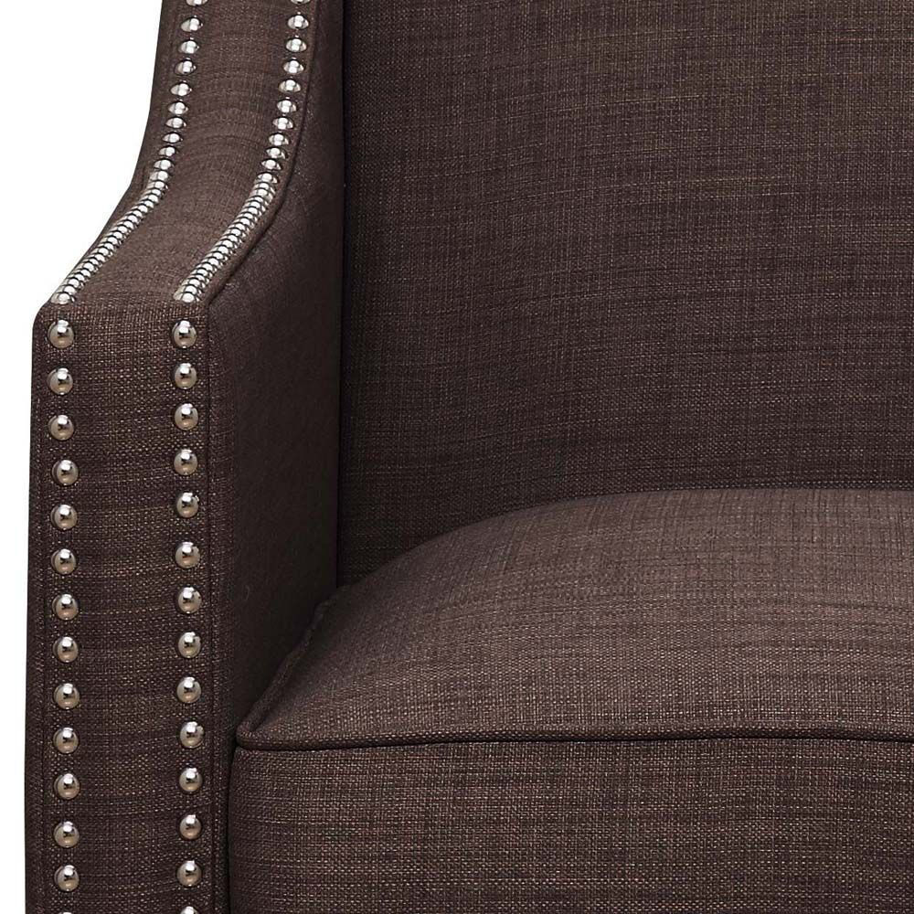 Erica Accent Chair - Chocolate - Arm