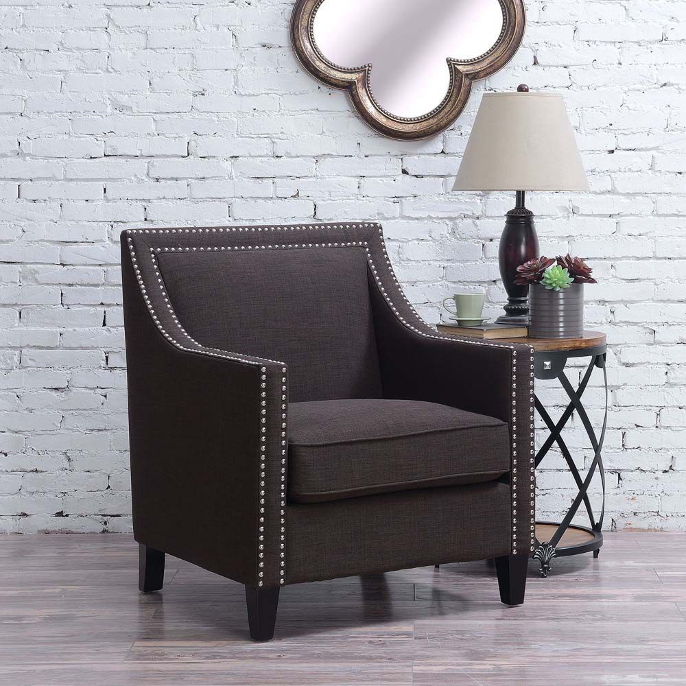 Erica Accent Chair - Chocolate - Lifestyle