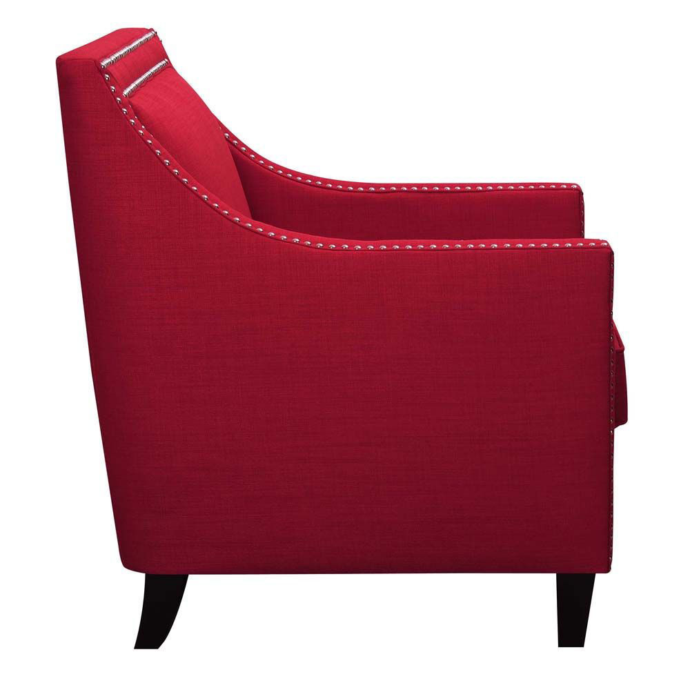 Erica Accent Chair - Berry - Side