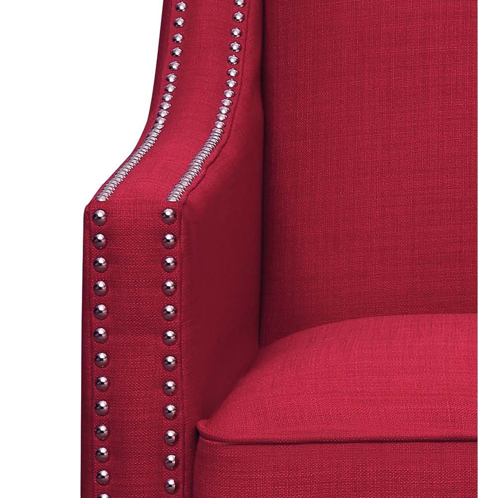 Erica Accent Chair - Berry - Arm