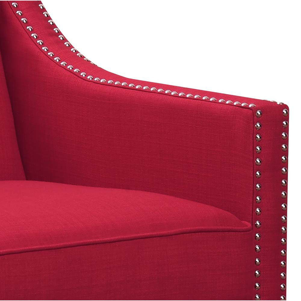 Erica Accent Chair - Berry - Inside