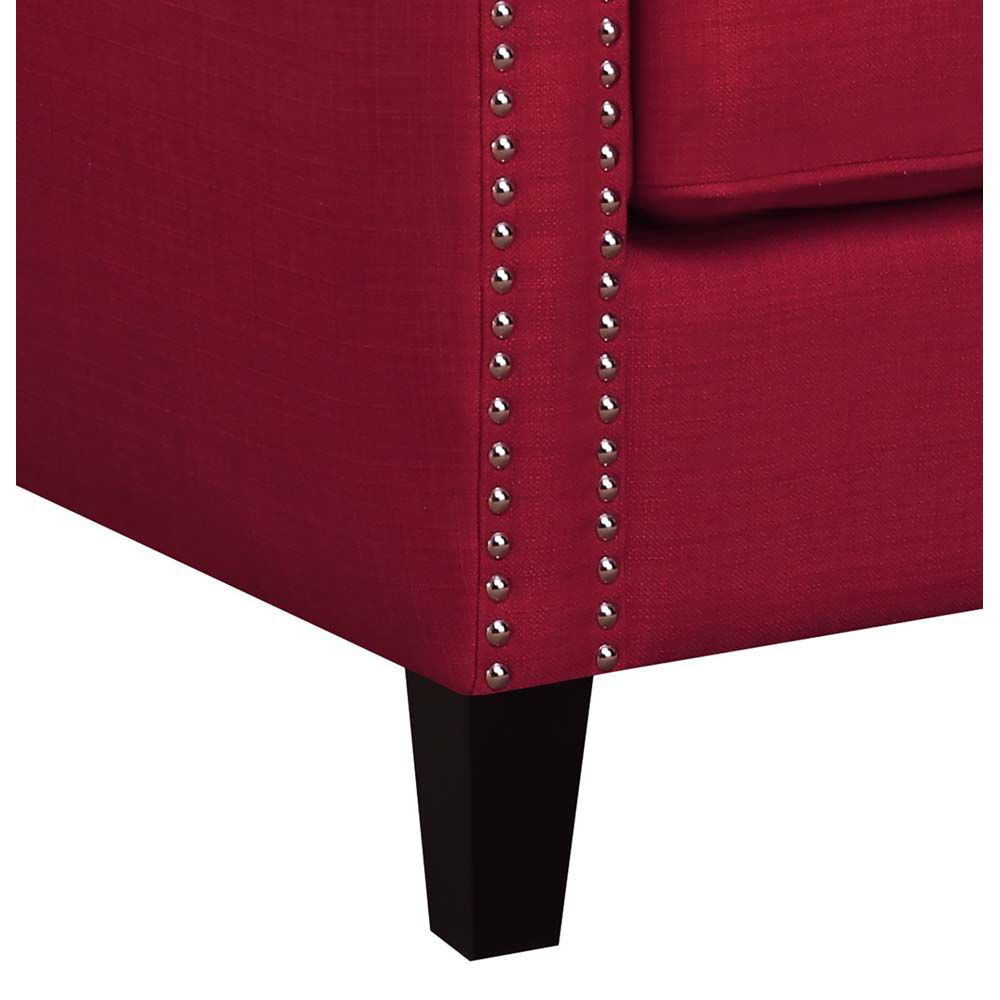 Erica Accent Chair - Berry - Leg