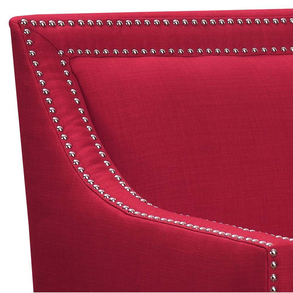 Erica Accent Chair - Berry - Corner