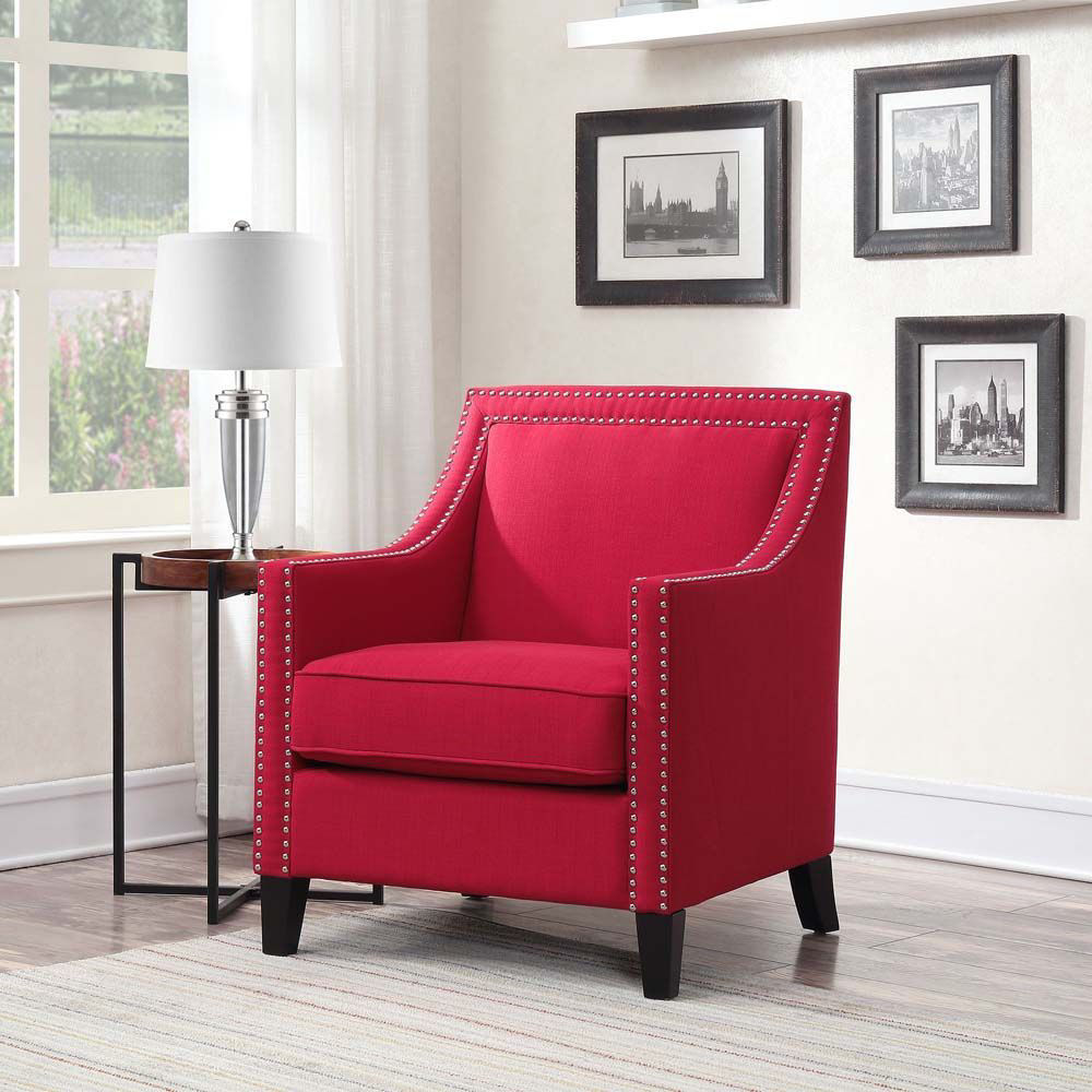 Erica Accent Chair - Berry - Lifestyle