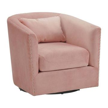 Stanton Swivel Chair - Blush