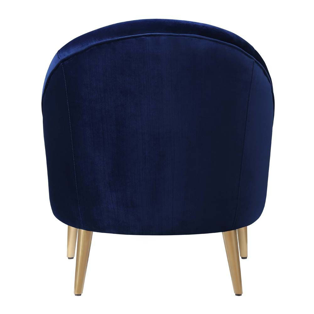 Trinity Accent Chair - Blue - Back