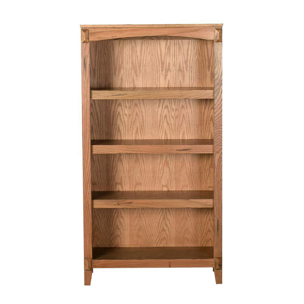 "Golden Oak 60"" Bookcase - Front"