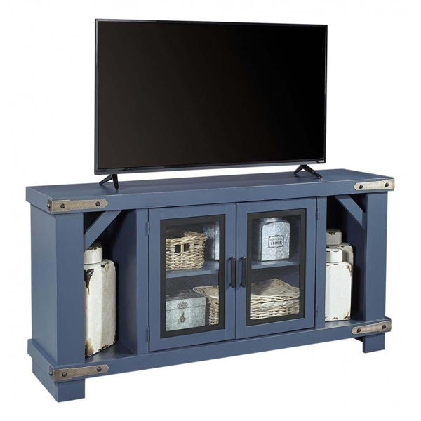 "Picture of Sawyer 64"" Blue Console"