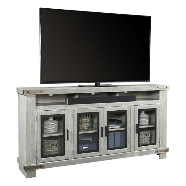 "Picture of Sawyer 78"" Light Gray High Console"