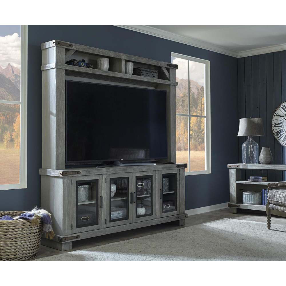 "78"" Sawyer Light Gray Wall - Lifestyle"