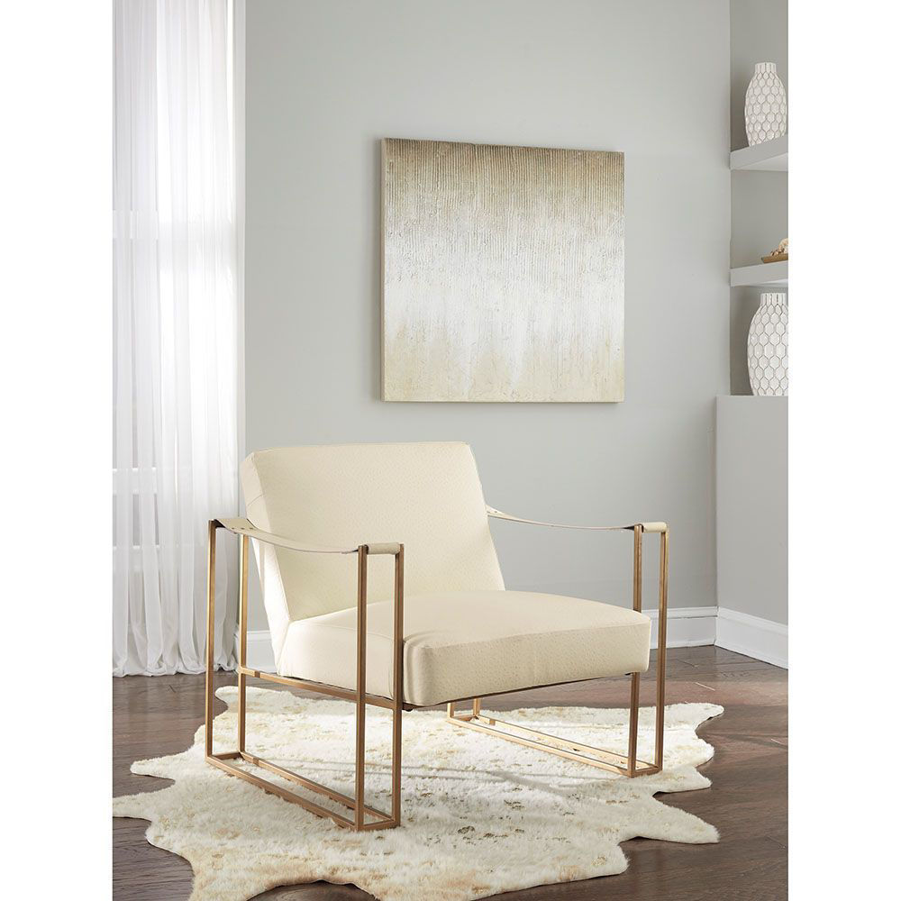 Sasha Cream Accent Chair - Lifestyle