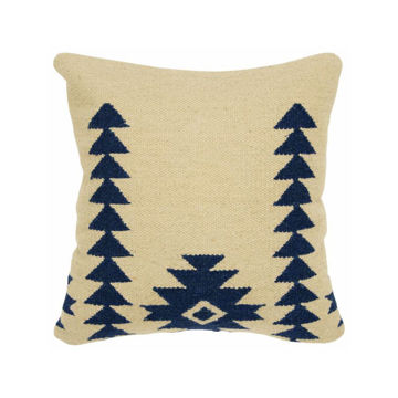 KILIM WHITE BLUE PILLOW