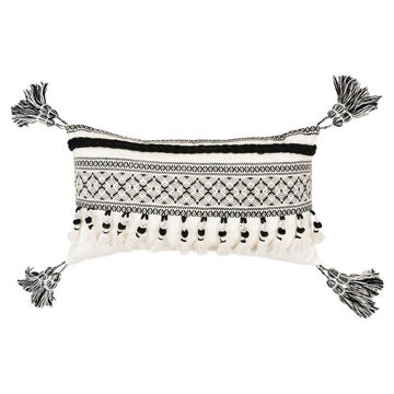 Southwestern Black and White Lumbar Pillow