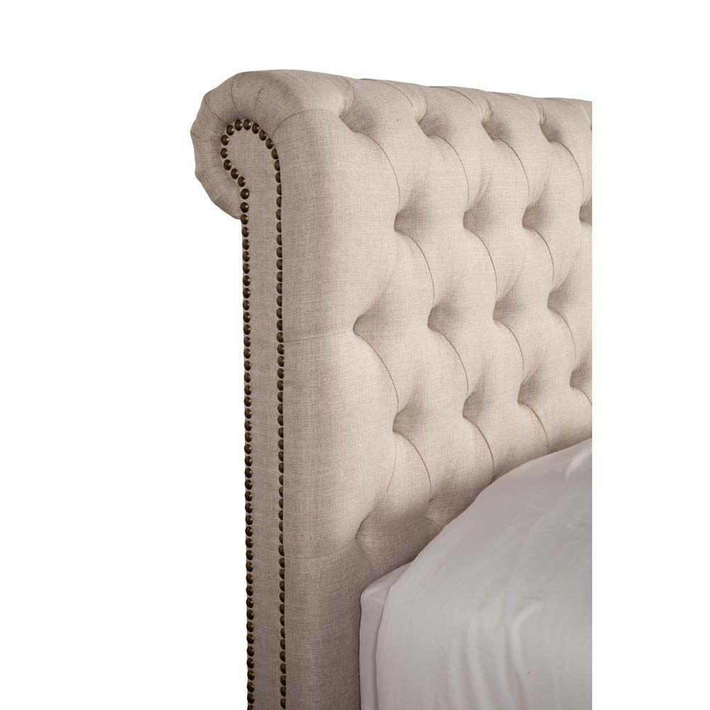 Picture of Cameron Upholstered Bed - Natural