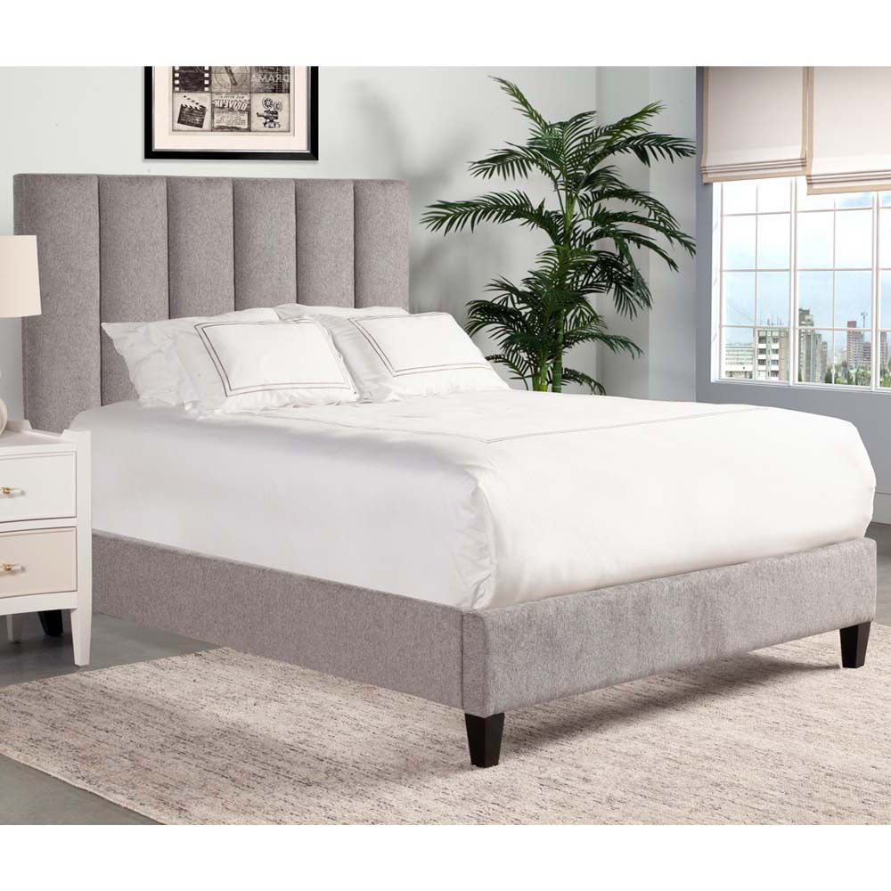 Picture of Avery Upholstered Bed - Gray