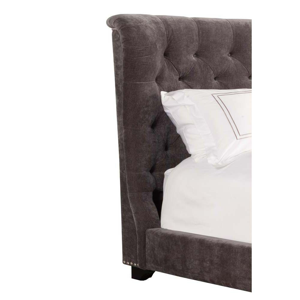 Picture of Chloe Upholstered Bed - Gray