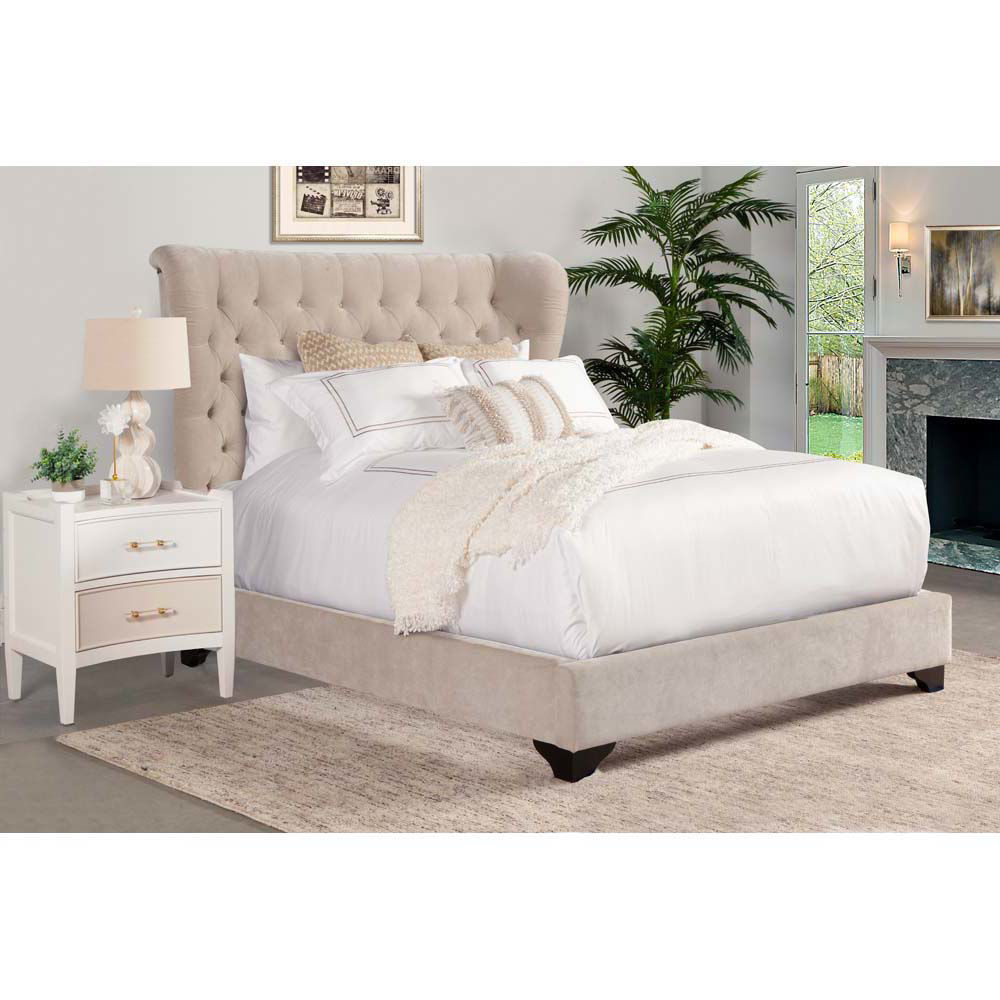 Picture of Chloe Upholstered Bed - Natural