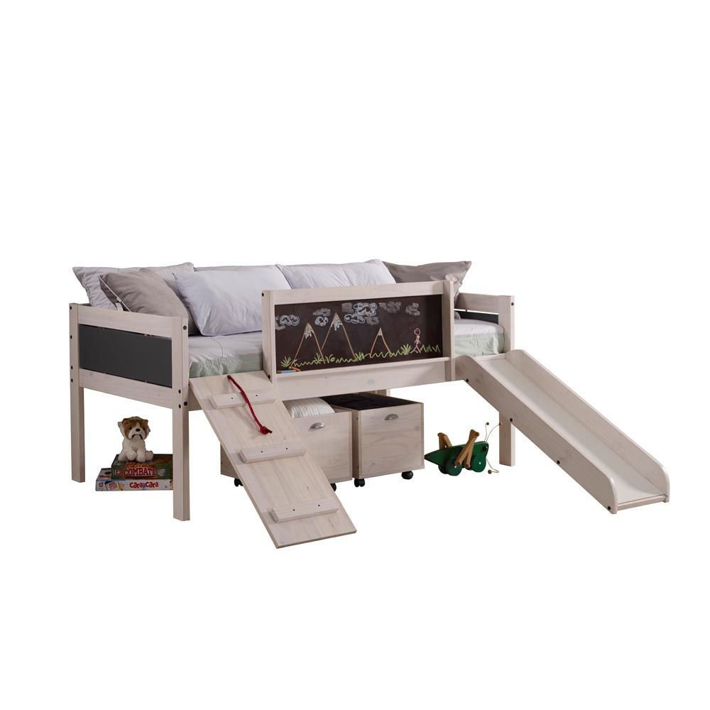 Chalk Art Twin Low Loft Bunk Side Alt