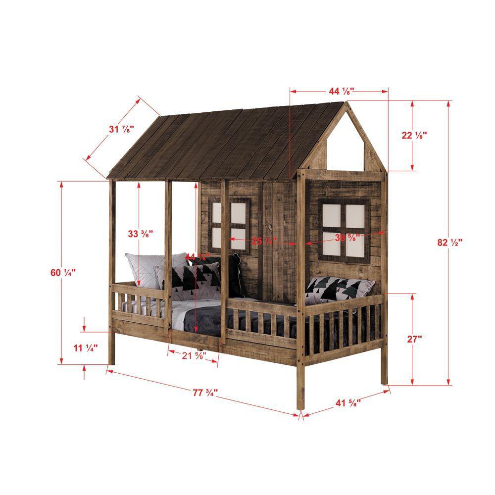 Front Porch Low Loft Bunk Dimensions