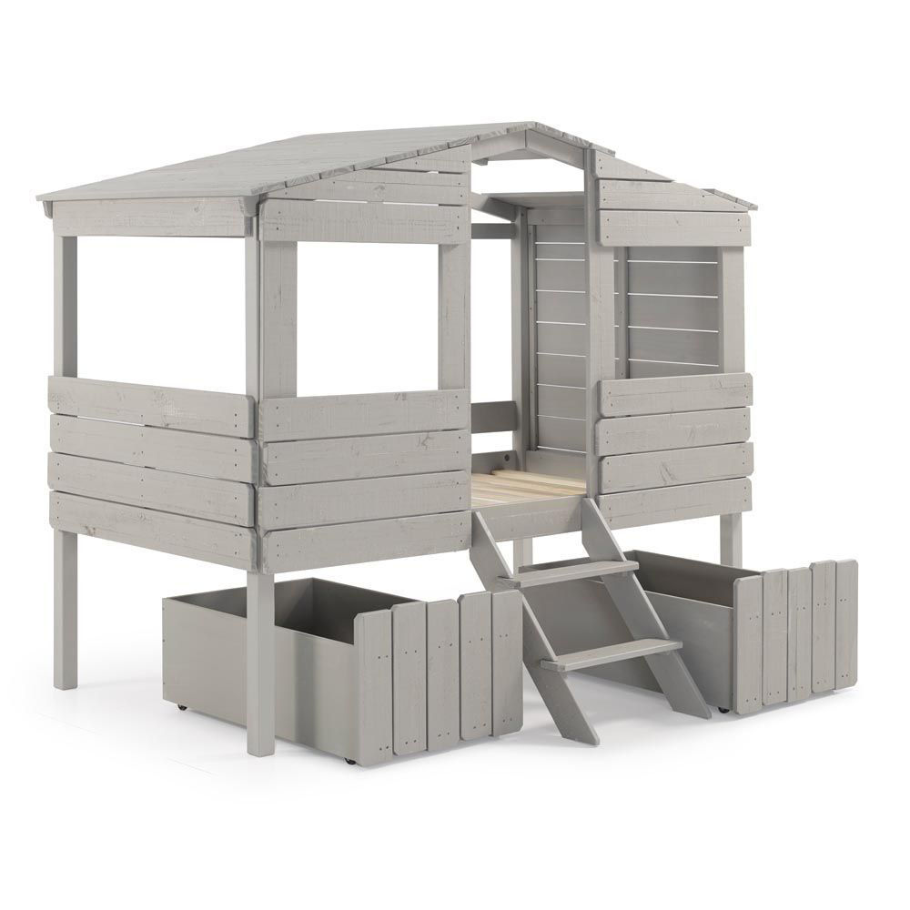 Tree House Rustic Grey Loft Side Alt