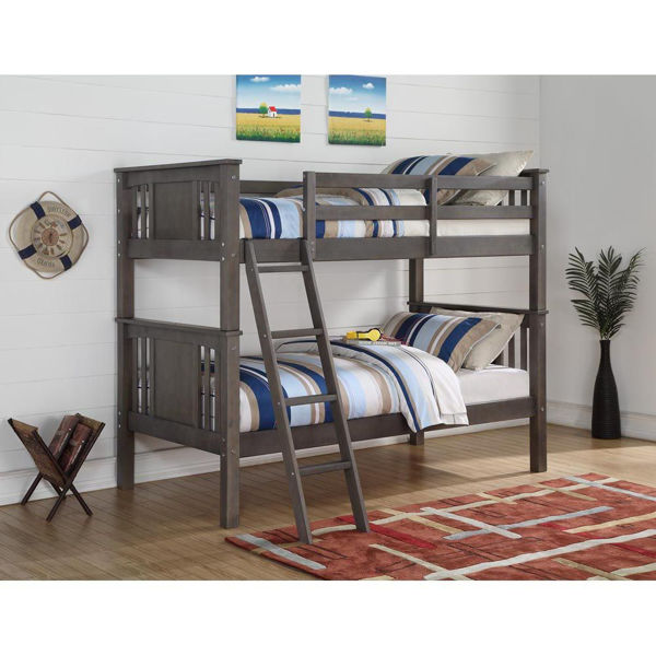 Yuma Grey Twin Over Twin Bunk