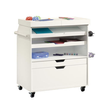 Soft White Craft Cart