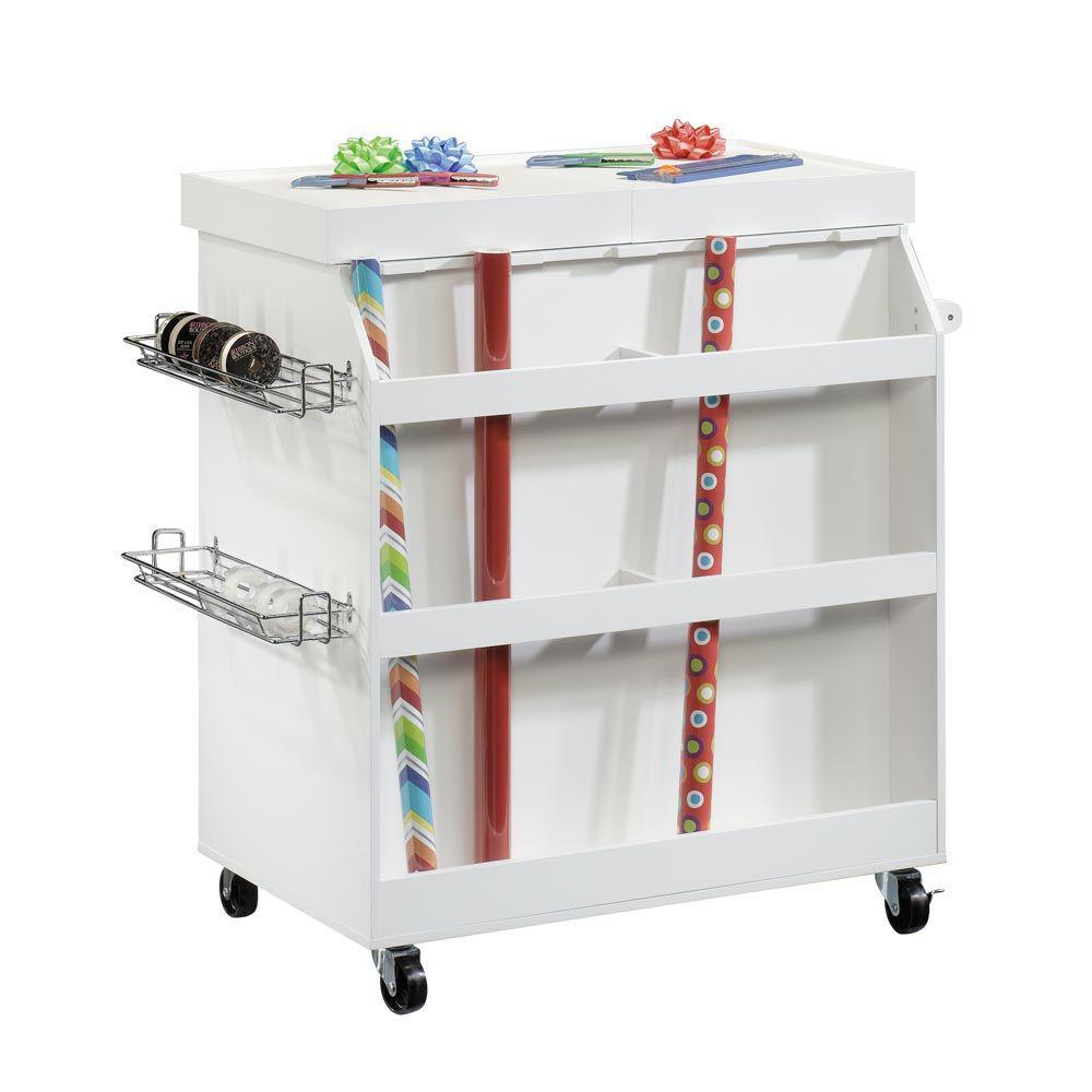Soft White Craft Cart - Back
