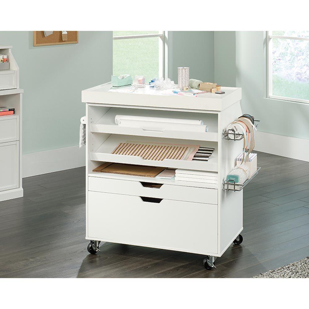 Soft White Craft Cart - Lifestyle