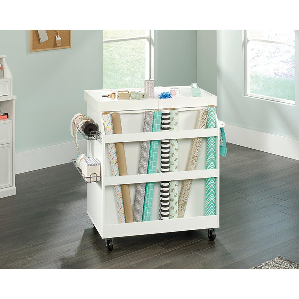 Soft White Craft Cart - Lifestyle Back