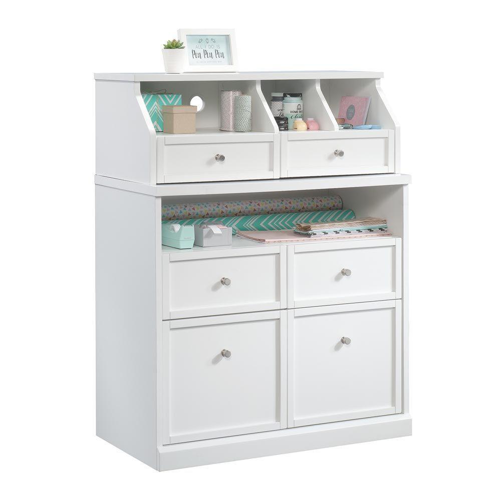 Crafting Storage Cabinet - Soft White