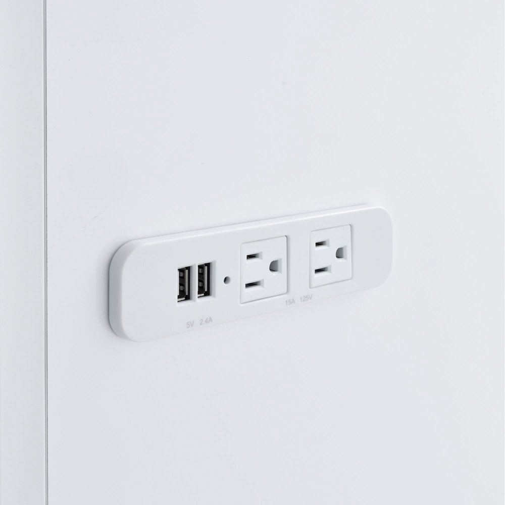 Amia Vanity - USB And Outlets