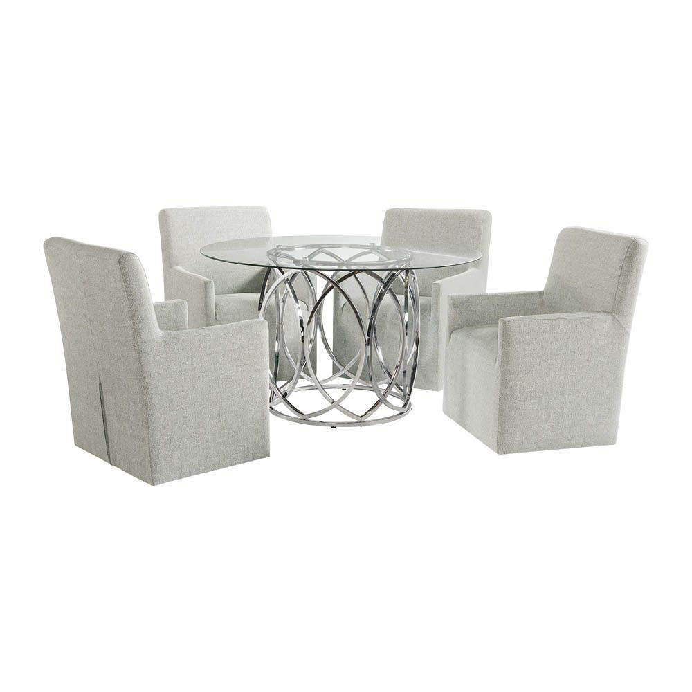 Nero Dining Set With Nero Arm Chairs