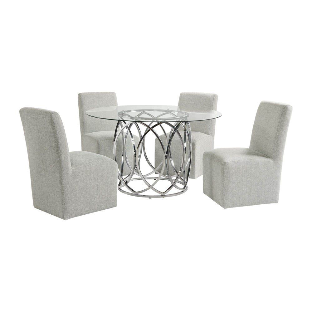 Nero Dining Set With 4 Side Chairs