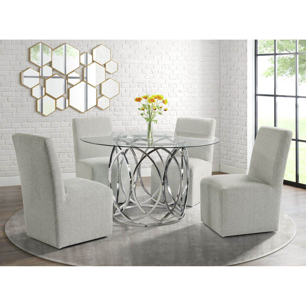Nero Dining Set With 4 Side Chairs - Lifestyle
